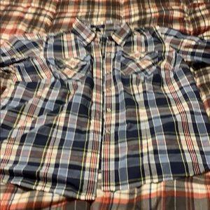 Like new plaid dress shirt